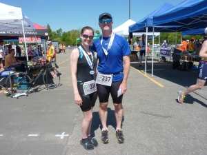 Brittany and I at the finish line!