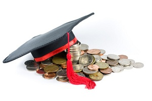 Education fund -- Graduation cap & coins.