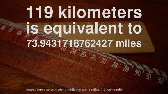 119_km_in_mile